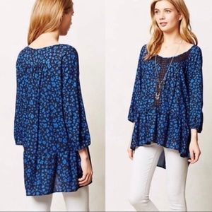 Anthro HD in Paris Resica tunic blouse embroidered